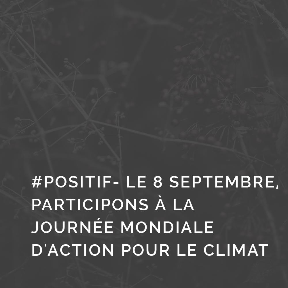 #Positif- Le 8 septembre, participons à la journée mondiale d'action pour le climat