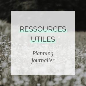 Planning journalier pour entrepreneuses