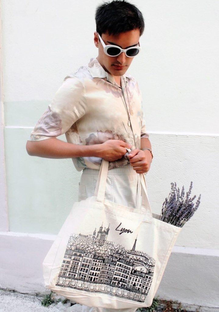Cabas lyonnais #1, par Sophie Kim Touras X Mona Craft