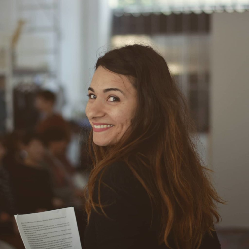 Nina Orengia est la fondatrice de la marque de mode éthique Comme un loup blanc. Elle témoignait sur le thème : Entreprendre en accord avec ses valeurs.