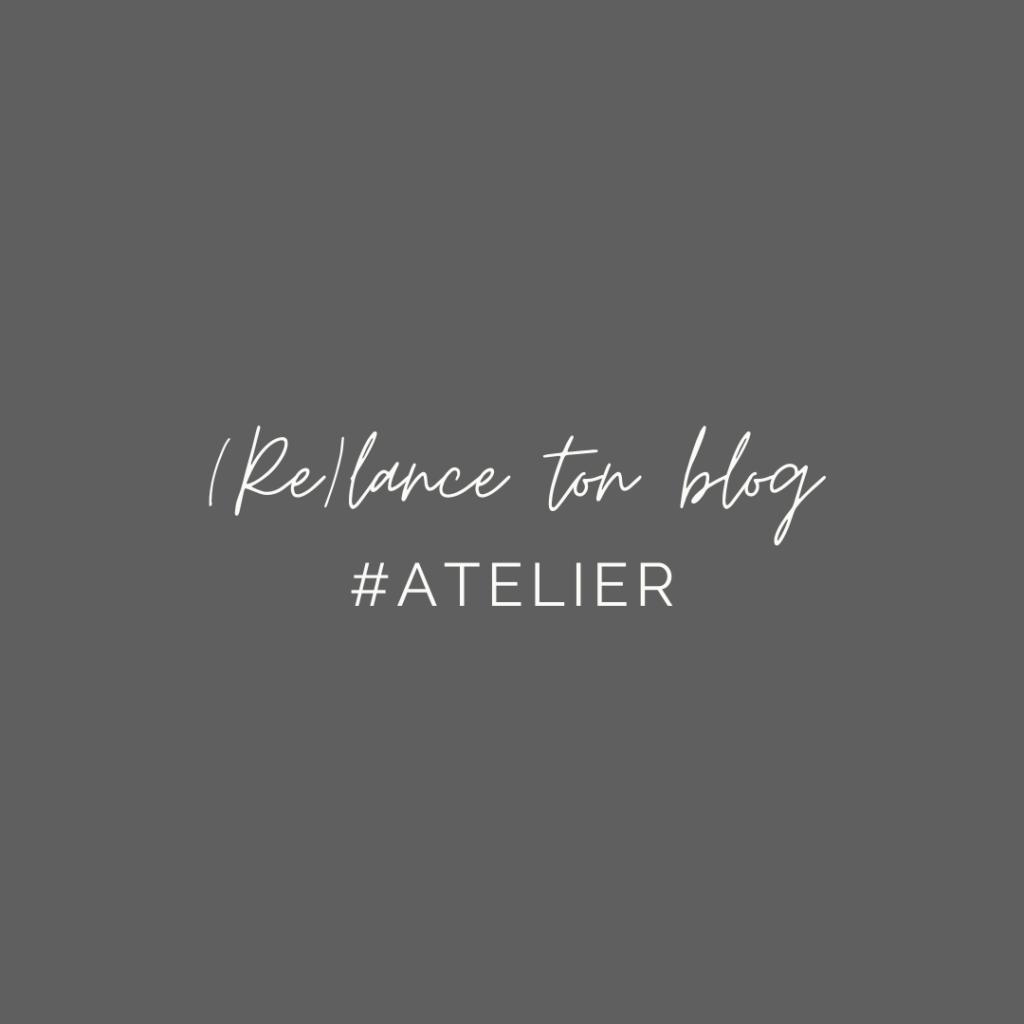 """Rendez-vous ce mardi 8 décembre 2020 pour l'atelier """"Lancer ou relancer son blog"""", à suivre chez Pause création à Lyon ou à distance."""