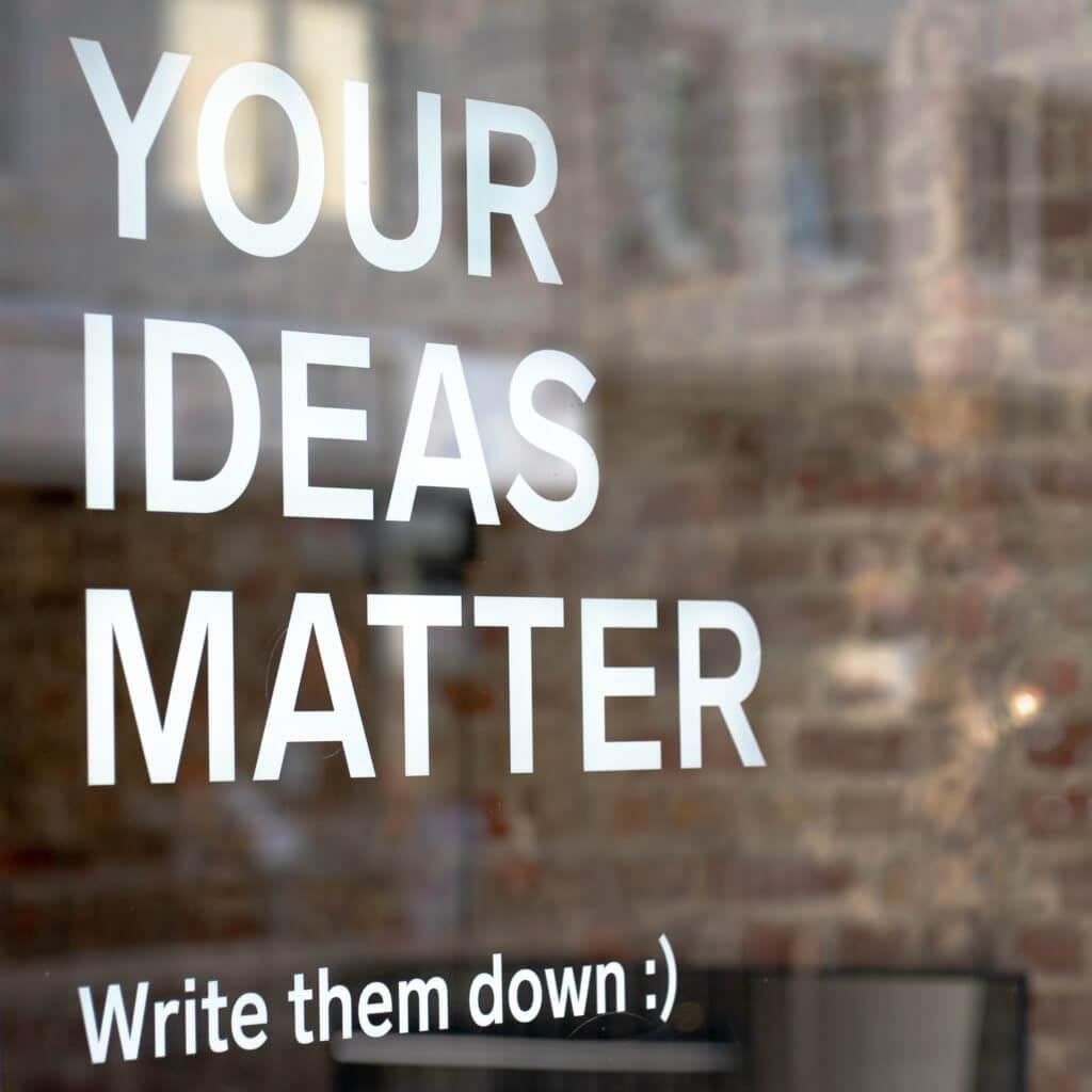Ecrire pour son entreprise : vos idées sont importantes, écrivez-les !