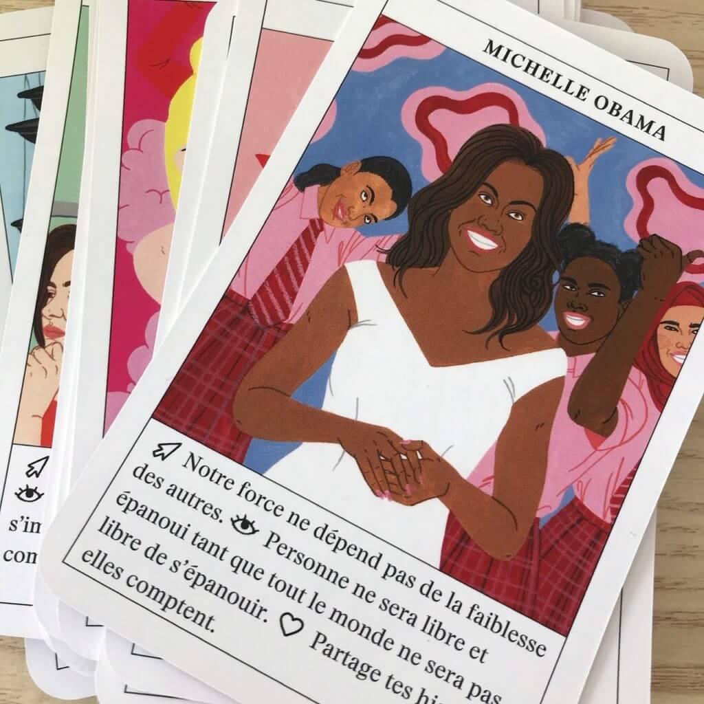 Oracle féministe : carte de Michelle Obama