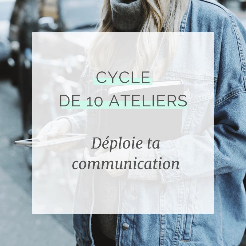Cycle de 10 ateliers en communication de marque